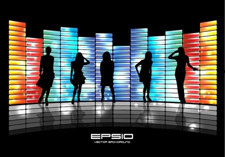 Music event illustration Stock Vector - 10965872