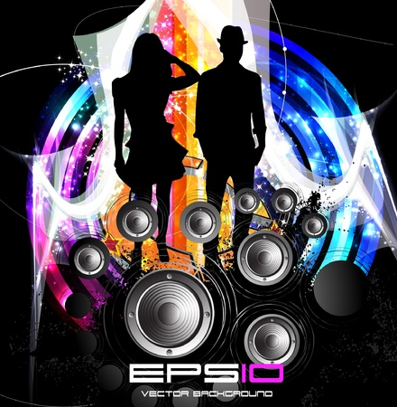 nightclub party: Music event illustration
