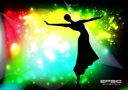 danza moderna: Música ilustración evento Vectores