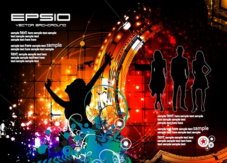 Discotheque illustration Vector