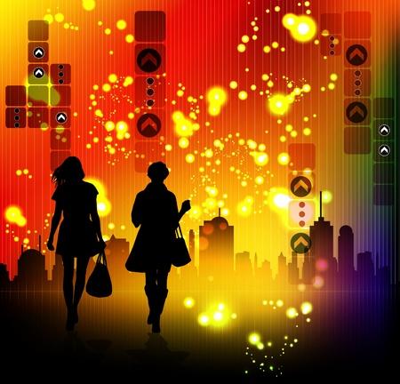 len: City silhouette Illustration