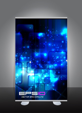 A display with stand banner template design.  Vector