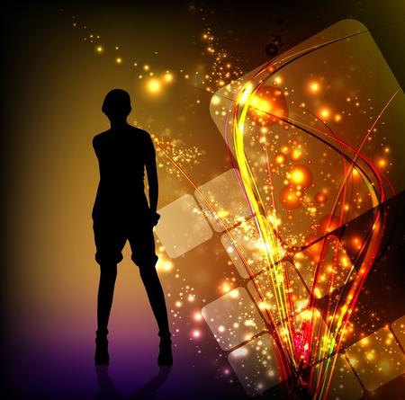 Beautiful woman silhouette Stock Vector - 11439666