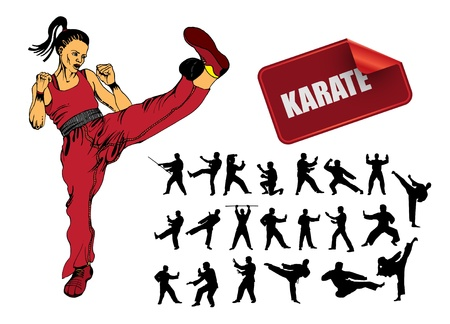 martial: Illustration of karate