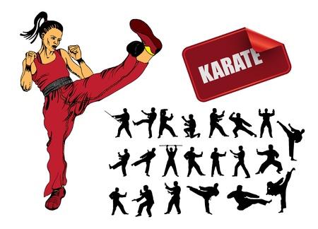 patada: Ilustraci�n del karate