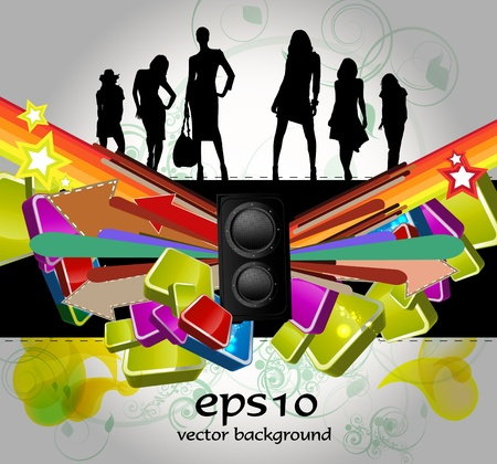 Party People Background Stock Vector - 11240120