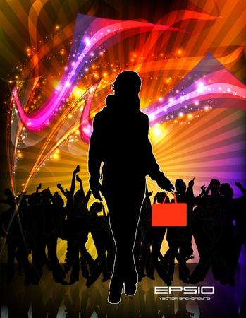 Music event background. illustration.  Ilustrace