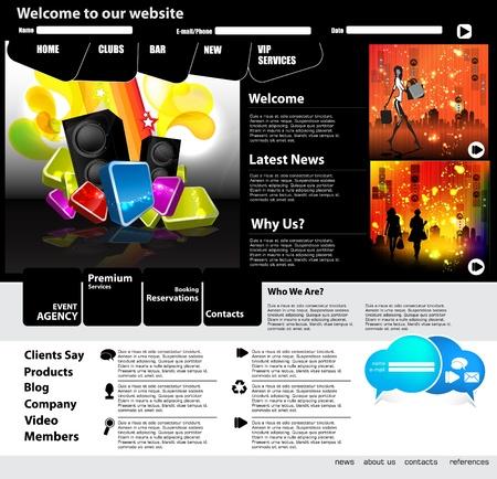 EPS10 Website Template - Vector Design  Vector