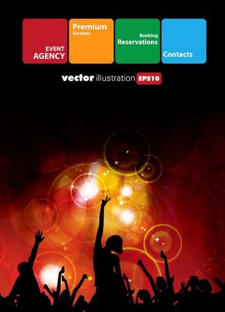 fiesta dj: M�sica de fondo evento. Vector eps10 ilustraci�n. Vectores