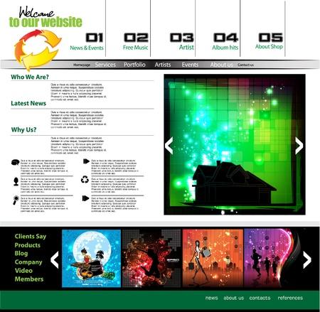 Vector editable website template design Stock Vector - 11439739