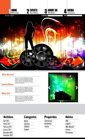 EPS10 Music Website Template - Vector Design Stock Vector - 11439738