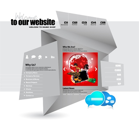 Editable website Vector