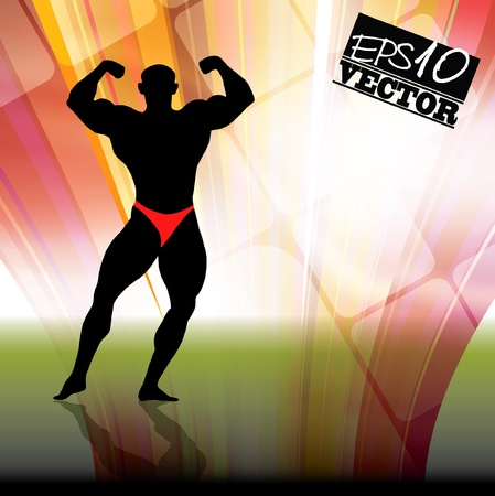 Vector illustration of muscle man Stock Vector - 11439794