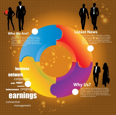 wealth abstract: Business concept  Illustration