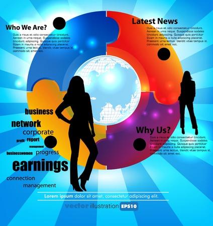 puzzle people: Business concept  Illustration