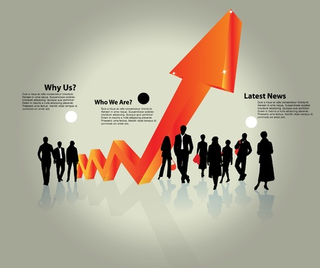 increase: Business concept  Illustration