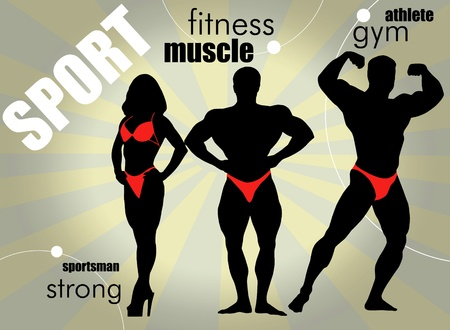 Bodybuilding. Vector illustration.  Vector