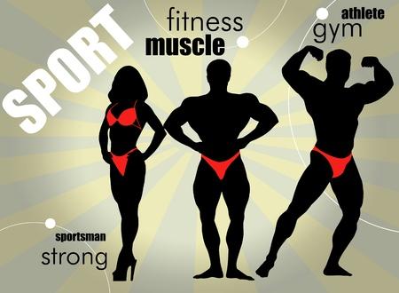 deltoids: Bodybuilding. Vector illustration.