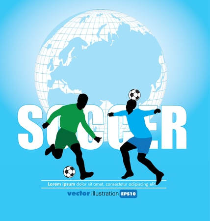 Vector Soccer Players Stock Vector - 11914415