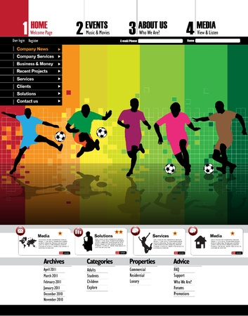 Modern web page layout design Stock Vector - 11871032