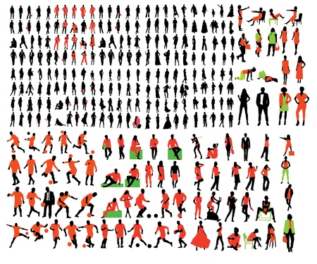 Big collection - fashion people Vector