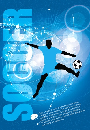 youth sports: Soccer. Vector illustration.