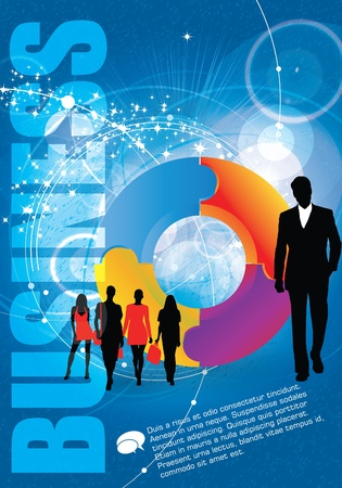 increase business: Business Abstract Background Illustration