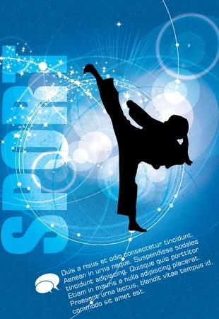 tae: Deportes. Karate illustartion Vectores