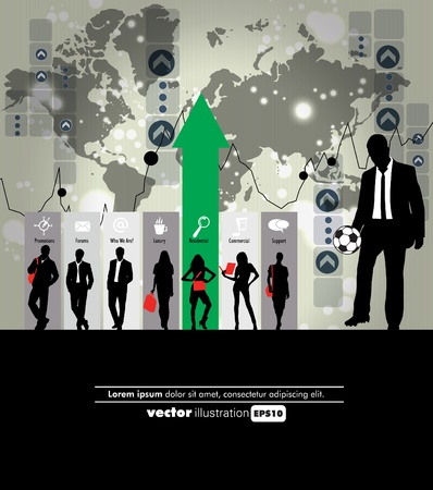 Business people Stock Vector - 11764019