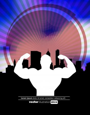 Bodybuilding. Vector illustration  Vector