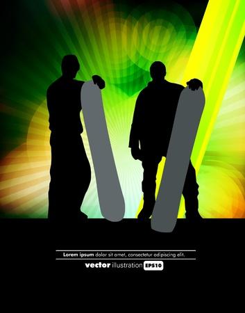 Snowboarding vector Vector