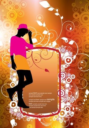 Fashion Girl Shopping Background