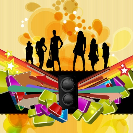 Music event background. Vector eps10 illustration.  Vector