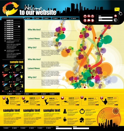 rollover: Modern web page layout design  Illustration
