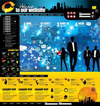 La página web de diseño de diseño moderno
