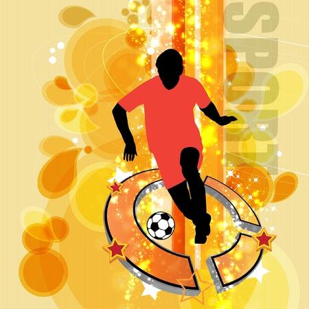 joueurs de foot: Footballeurs Illustration