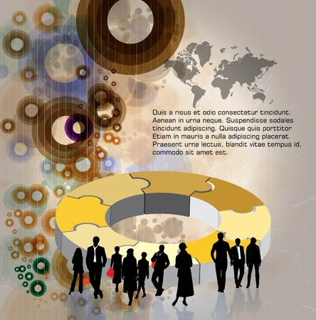 economy: Business Abstract Background Illustration