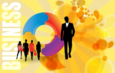 Illustration of business people Stock Vector - 12133769