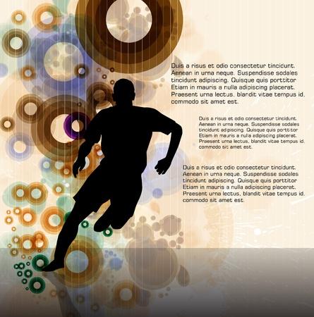 medical man: Sport vector illustration Illustration
