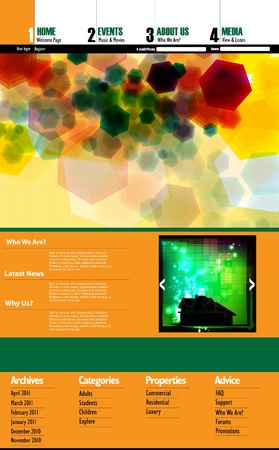 EPS10 Website Template - Vector Design  Vector