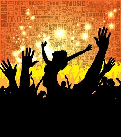 foule mains: Foule de gens du parti