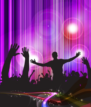 rave: Crowd of party people Illustration