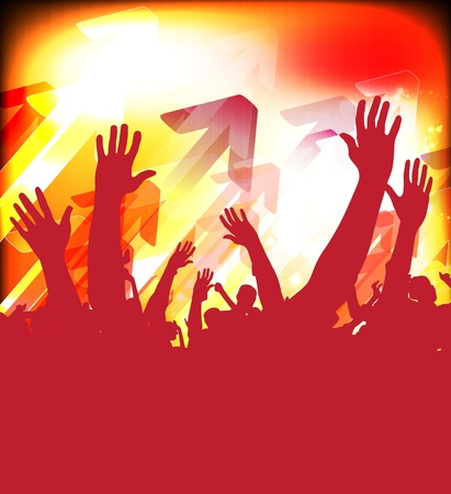 nightclub crowd: Crowd of party people Illustration