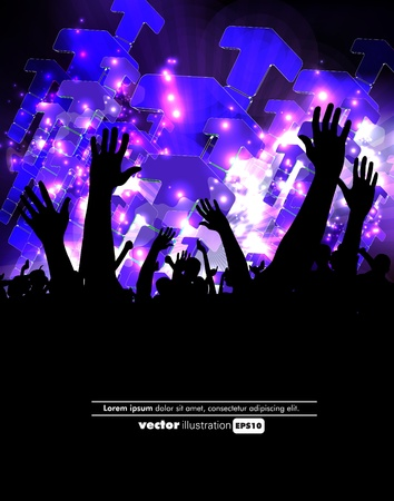 Crowd of party people Vector
