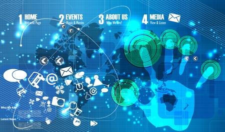 디지털: 디지털 배경 일러스트