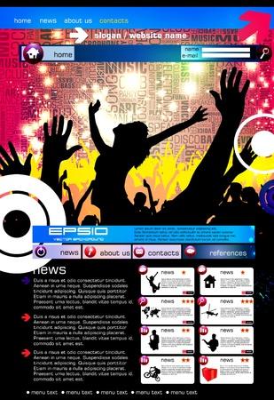 Modern web page layout design  Illustration