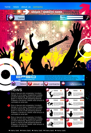 Modern web page layout design Stock Vector - 12410185
