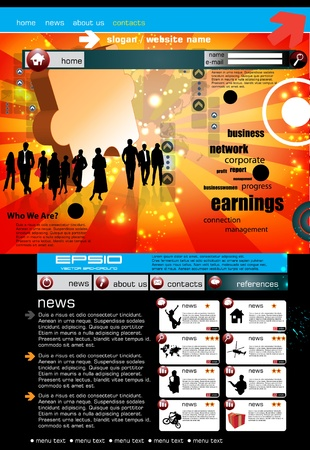 web site design template: Modern web page layout design  Illustration