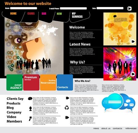 Moderna web page layout design