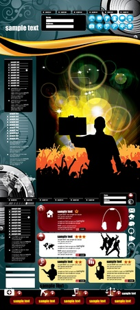 Modern web page layout design  Vector